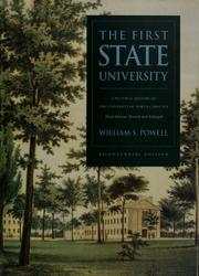 Cover of: The first state university | William Stevens Powell
