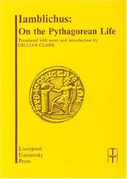 Cover of: On the Pythagorean life