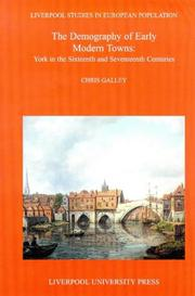 Cover of: The demography of early modern towns
