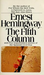 Cover of: The fifth column | Ernest Hemingway