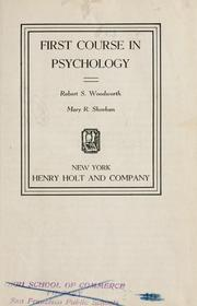 Cover of: First course in psychology | Robert Sessions Woodworth