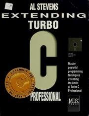 Cover of: Extending Turbo C Professional by Al Stevens