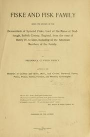 Cover of: Fiske and Fisk family | Frederick Clifton Pierce