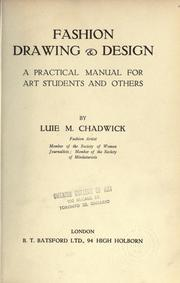 Cover of: Fashion drawing and design by Luie M. Chadwick