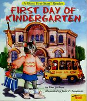 Cover of: First day of kindergarten
