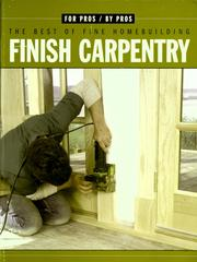 Cover of: Finish carpentry |