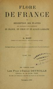 Cover of: Flore de France | Georges Rouy