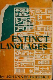 Extinct Languages Open Library - Extinct languages