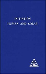 Cover of: Initiation, human and solar