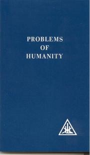 Cover of: Problems of humanity