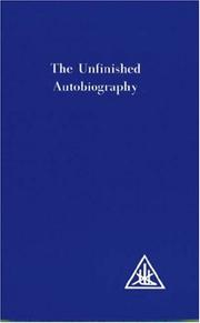 Cover of: Unfinished Autobiography