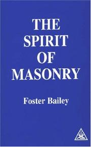 Cover of: Spirit of Masonry