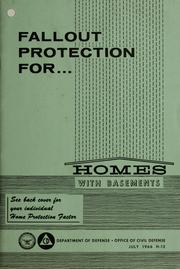 Cover of: Fallout protection for homes with basements. |