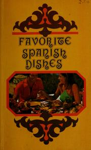 Cover of: Favorite Spanish dishes |