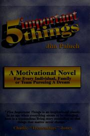 Cover of: Five important things | Jim Paluch