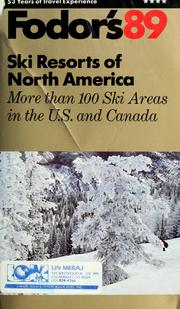 Cover of: Fodor's89 ski resorts of North America.