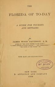 Cover of: The Florida of to-day by Davidson, James Wood