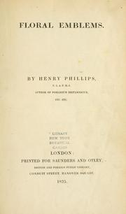 Cover of: Floral emblems. | Phillips, Henry