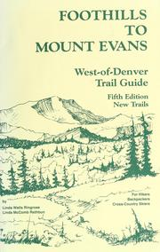 Cover of: Foothills to Mount Evans by Linda McComb Rathbun
