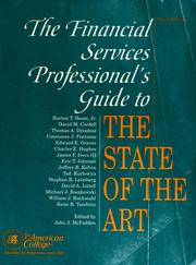 Cover of: The Financial services professional's guide to the state of the art |