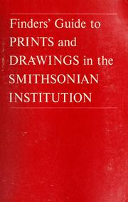 Cover of: Finders' guide to prints and drawings in the Smithsonian Institution | Smithsonian Institution