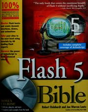 Cover of: Flash 5 Bible | Robert Reinhardt