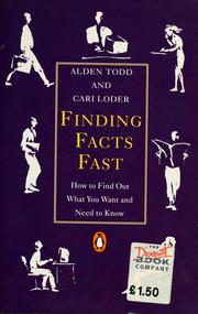 Cover of: Finding facts fast | Alden Todd