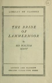 Cover of: The bride of Lammermoor | Sir Walter Scott