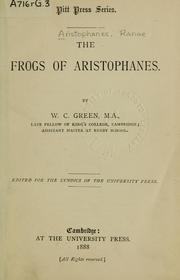 Cover of: The frogs | Aristophanes
