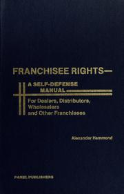 Cover of: Franchisee rights | Alexander Hammond