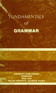 Cover of: Fundamentals of grammar | Leahy, William.