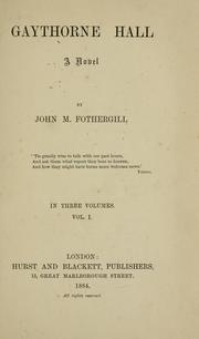 Cover of: Gaythorne Hall | John M. Fothergill