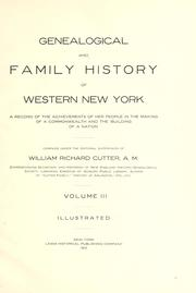 Cover of: Genealogical and family history of western New York by William Richard Cutter