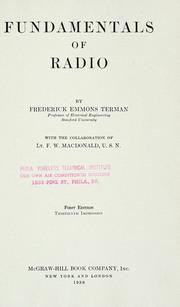 Cover of: Fundamentals of radio | Terman, Frederick Emmons