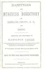 Cover of: Gazetteer and business directory of Cortland County, N. Y., for 1869