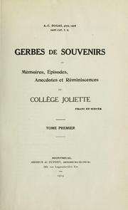 Cover of: Gerbes et souvenirs by A. C. Dugas