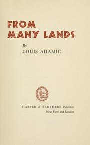 Cover of: From many lands | Louis Adamic