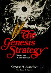 Cover of: The Genesis strategy | Stephen Henry Schneider