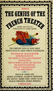 Cover of: The genius of the French theater | Albert Bermel