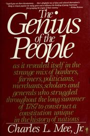 Cover of: The genius of the people | Charles L. Mee