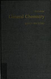 Cover of: General chemistry | Linus Pauling