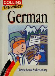 Cover of: German phrase book & dictionary |