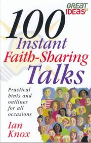 Cover of: 100 Instant Faith Sharing Talks