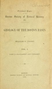 Cover of: Geology of the Boston Basin by William Otis Crosby