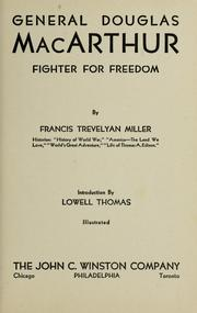 Cover of: General Douglas MacArthur | please see Francis Trevelyan Miller