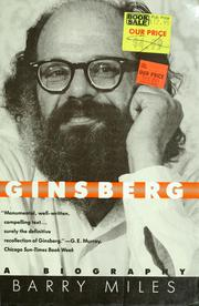 Cover of: Ginsberg | Barry Miles