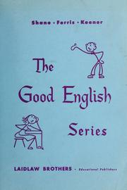 Cover of: Good English series | Harold Gray Shane