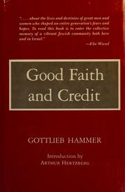 Cover of: Good faith and credit | Gottlieb Hammer