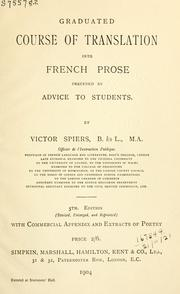 Cover of: Graduated course of translation into French prose | Victor Spiers