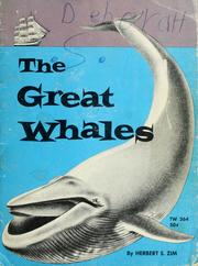 Cover of: The great whales | Herbert S. Zim